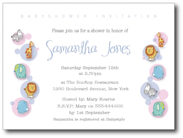 Samples of Baby Shower Invitation Wording
