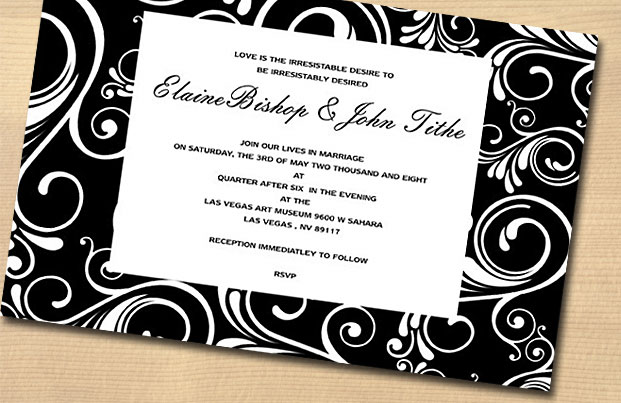 Black And White Wedding Invitations What Are Your Invites Saying