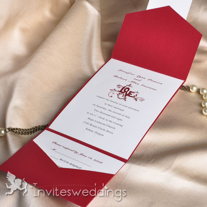 Pocketfold Invites with adorable invitations layout