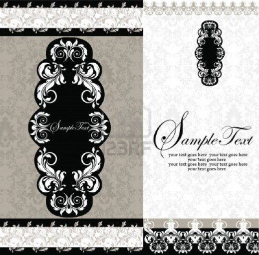 modern white-damask-wedding-invitations